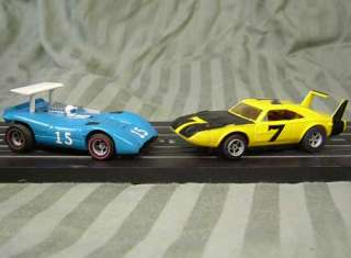 Aurora AFX HO Scale Ferrari 612 Can Am & Plymouth Superbird Slot Cars