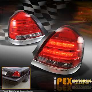1998 2008 CROWN VICTORIA LX POLICE INTERCEPTOR RED LED TAIL LIGHTS w
