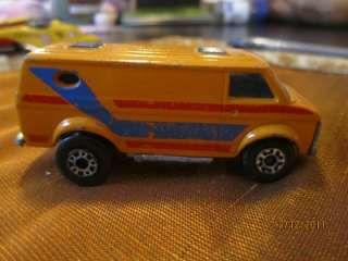 MATCHBOX SUPERFAST CHEVY VAN #68 YELLOW ORANGE LESNEY MADE ENGLAND