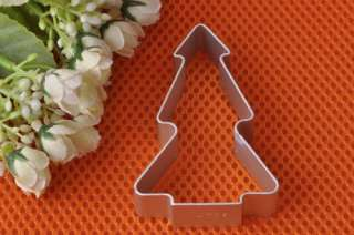 Santa Christmas Tree Biscuit Cookie Pastry Cutter Metal