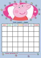 PEPPA PIG personalised Reward Chart + Stickers.