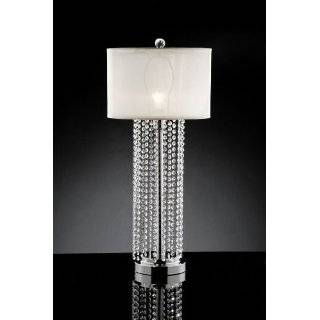 Dale Tiffany GT701217 Aurora Crystal Table Lamp, Antique