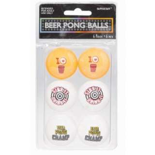 Beer Ping Pong Balls (6 count)   Costumes, 74240