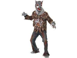 Scary Zombie Were Wolf Costume Adult Large