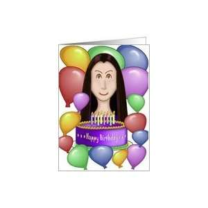 Birthday with Personality   Balloons, Cake & Candles Card