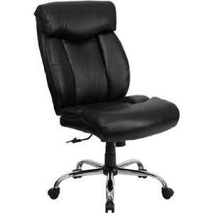 Black Leather Office Chair   Flash Furniture GO 1235 BK LEA GG Home