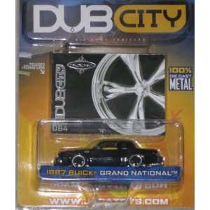 Jada Dub City 164 1987 Buick Grand National BLACK Toys