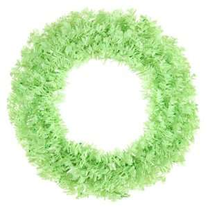 Cut Tinsel Artificial Christmas Wreath Green Lights