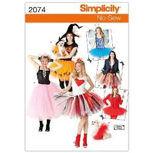 Simplicity Sewing Pattern 2074 Misses and Dogs Costumes