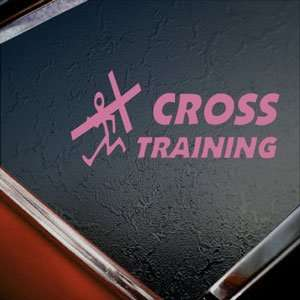 Christian Cross Training Pink Decal Truck Window Pink