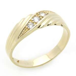 3ctw CZ Cubic Zirconia Womens Wedding Band Yellow Gold Ring Jewelry