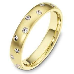 Yellow Gold Classic Diamond Band, 0.23 TCW   11.5 Dora Rings Jewelry