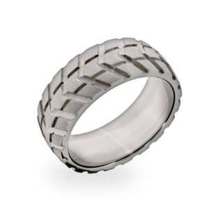 Mens Stainless Steel Tire Ring Size 12 (Sizes 11 12