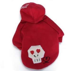 Pet Dog Hoodie Coat Clothes Apparel Red (S)