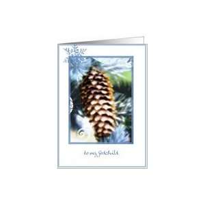 to my godchild pine cone christmas wishes Card Health