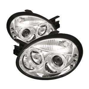Dodge Neon Halo Led Projector Headlights / Head Lamps/ Lights   Chrome