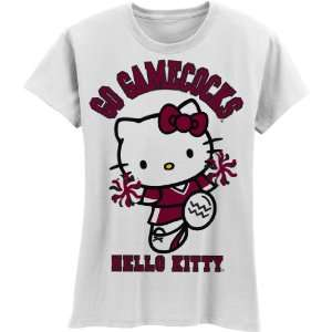 Gamecocks Hello Kitty Pom Pom Girls Crew Tee Shirt