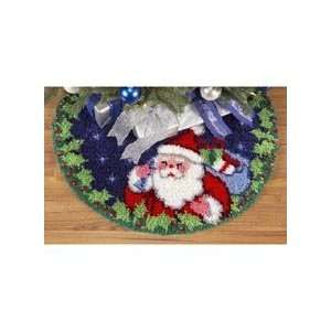 Santa Tree Skirt Latch Hook Kit