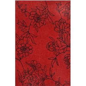 Indoor/Outdoor Hand Tufted Area Rug Sketched 3 6 x 5 6 Red Carpet