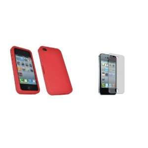 Mobile Palace   Red silicone skin case cover pouch holster
