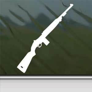 M1 Carbine M 1 White Sticker Car Laptop Vinyl Window White