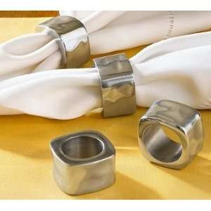 Pottery Barn Aluminum Square Napkin Ring