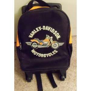 Childs Harley Davidson Motorcycles Suitcase Bag W/wheels Handle Nice