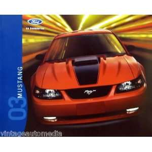 2003 Ford Mustang vehicle brochure