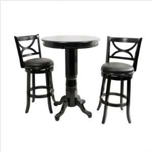 Bundle 01 Florence Pub Table Set in Black (6 Pieces)