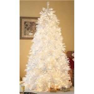 ft White Iridescent Pre Lit Christmas Tree