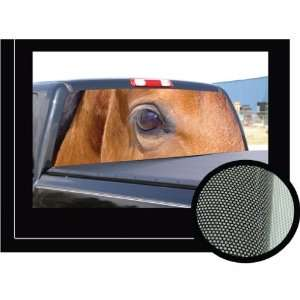 65   Rear Window Graphic   horse scene truck decal view thru vinyl
