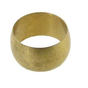 10mm Dia Gold Tone Brass Compression Sleeve Ferrule