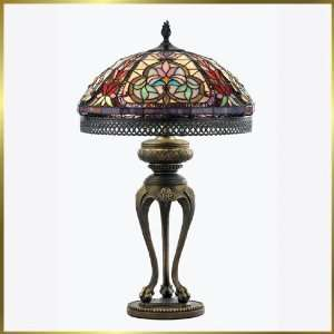 Tiffany Table Lamp, QZTF134T, 2 lights, Antique Bronze, 16