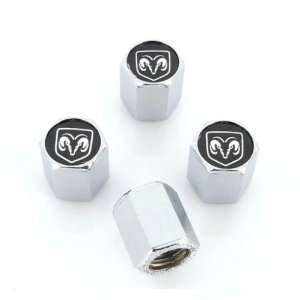 Dodge Ram Black Tire Valve Stem Caps   (Set of 4