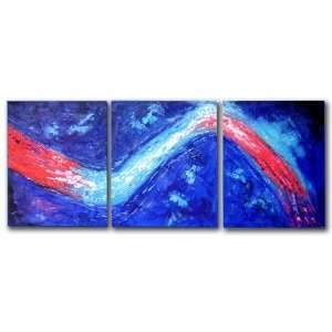 River Runs Red Hand Painted Canvas Art Oil Painting