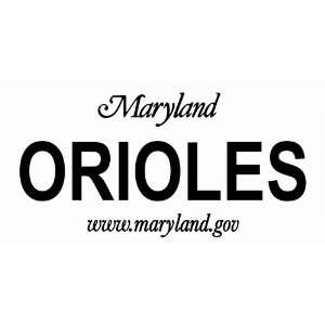 Maryland State Background License Plate Frame MLB