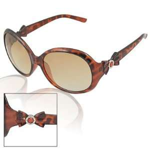 Lens Plastic Leopard Print Sunglasses for Lady