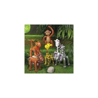 6 Inflatable ZOO ANIMALS/JUNGLE/Safari PARTY DECOR