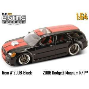 Dub City Big Time Muscle Black 2006 Dodge Magnum R/T 164 Die Cast Car