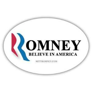Mitt Romney Believe in America Car Bumper Sticker Decal 5