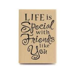 Life Is Special With Friends   Rubber Stamps Arts, Crafts
