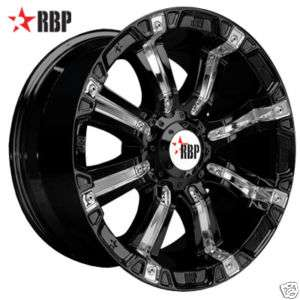 17 RBP 94R Wheels & TIRES 17 inch BLACK Offroad RIMS