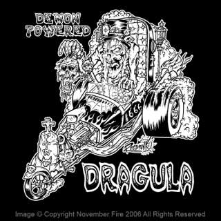Demon Powered Shirt Dragula Zombie Hot Rod Coffin Evil