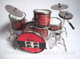 Miniature Drum set The Beatles Red