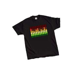 LED Sound Activated E Q Raver T Shirt (Large) Electronics