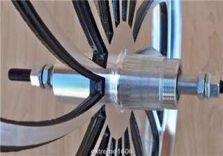 Machined Wheel Set BMX Lowrider Bicycle Mags Bike Rims Pair