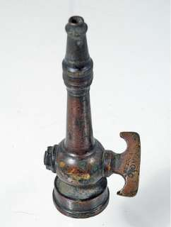 Antique Garden Fire hose nozzle, Brass Circa 1800s