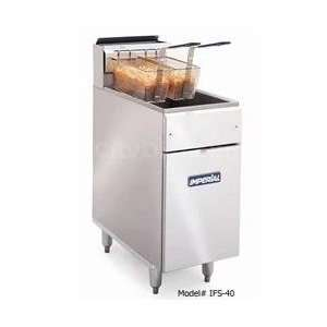 40 Commercial 40lb Gas Deep Fat Fryer W/ 2 Fry Baskets