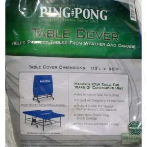 Duty Fitted PING PONG Table Tennis Cover (BLUE)