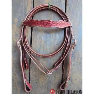 Leather Tack Horse Bridle Headstall Reins 002
